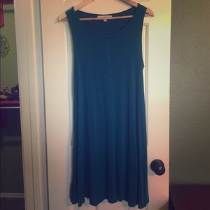 Ann Taylor LOFT teal shift/swing dress medium